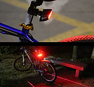 Rear Bike Light LED Cycling Remote Control Easy Carrying Smart Laser Lumens Red Cycling/Bike