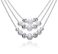 Necklace Non Stone Pendant Necklaces Chain Necklaces Jewelry Birthday Daily Casual Christmas Gifts Single Strand GeometricBasic Design