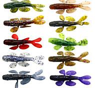 """10 pcs Señuelos blandos / Vinilos Cebos Señuelos blandos / Vinilos Cocodrilo Shad Colores Surtidos g/Onza mm/3-5/16"""" pulgada,Silicona"""