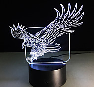 3D Illusion Bulding Night Light Ton Led Lamp Colors Change Art Sculpture Table Light Produces Unique Dog Ostrich Dragonfly Eagle