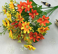 cheap -Artificial Flowers 1pcs Branch Polyester Daisies Tabletop Flower