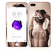 cheap -For Apple iPhone 7 4.7 Tempered Glass with Soft Edge Full Screen Coverage Front and Back Screen Protector Sexy Lady Pattern
