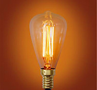 ST48 e14 e27 220v-240v 40w arte decorativo fuente de luz de tungsteno retro