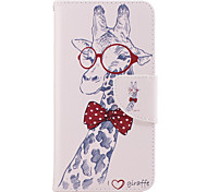 For Samsung Galaxy J3(2016) J5(2016) Case Cover Giraffe Pattern PU Material Painted Mobile Phone Case J3 Prime