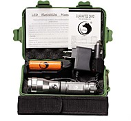 U'King LED Flashlights / Torch Flashlight Kits LED 1500 lm 3 Mode Cree XP-E R2 for Camping/Hiking/Caving Everyday Use Outdoor Yes