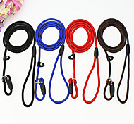 cheap -Cat Dog Collar Leash Adjustable / Retractable Breathable Safety Training Solid Nylon Black Coffee Red