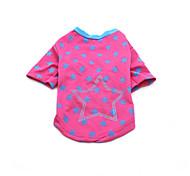 Dog Shirt / T-Shirt Dog Clothes Summer Stars Cute Fashion Casual/Daily Sports Black Blue Pink