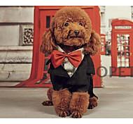 Собаки Плащи Черный Одежда для собак Весна/осень Английский На каждый день