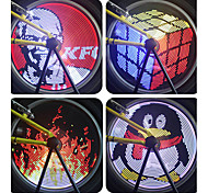Bike Glow Lights Wheel Lights LED Cycling PC Programmable Waterproof Color-Changing DIY 18650 Lumens Cycling/Bike