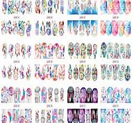 baratos -1pcs 12 design Transferência de água adesivo Fashion Diário Alta qualidade
