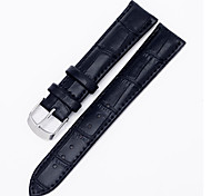 Men's/Women's Watch Bands cow leather Slub yarn 18mm Watch Accessories