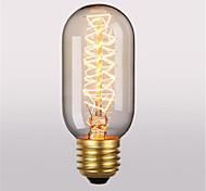 baratos -1pç 40W E26/E27 T45 2300 K Incandescente Vintage Edison Light Bulb AC 220V AC 220-240V V
