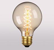 baratos -1pç 60W E26/E27 G95 2300 K Incandescente Vintage Edison Light Bulb AC 220V AC 220-240V V