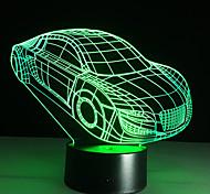 Недорогие -3d декомпрессионной свет автомобиль автомобиль форма USB заряд сенсорный выключатель лампы красочные детей ночью свет