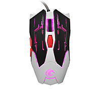 Недорогие -Hxsj x100 профессиональные usb проводные быстро движущиеся светодиодные игровые периферийные устройства игровой мыши с шестью кнопками