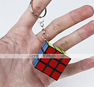 cheap -Rubik's Cube Smooth Speed Cube Smooth Sticker Adjustable spring Magic Cube Key Chain Square Gift
