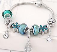 cheap -Women's Rhinestone Flower Charm Bracelet - Fashion Blue Bracelet For Party Birthday