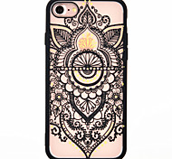 For iPhone 7 7plus 6S 6plus phone Case New lace printing pattern TPU acrylic two-in-one Scrub phone Case