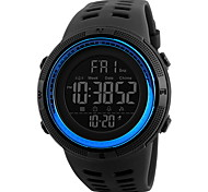 Men's Sport Watch Wrist watch Chinese Digital LCD Calendar Water Resistant / Water Proof Dual Time Zones Alarm Stopwatch Rubber Band Cool