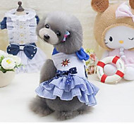 Dog Coat Dog Clothes Cute Casual/Daily Cartoon Blue Pink Costume For Pets