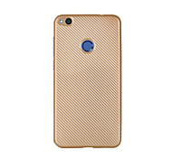 Para Ultrafina Funda Cubierta Trasera Funda Un Color Suave Fibra de Carbono para HuaweiHuawei P8 Lite (2017) Huawei Honor 8 Huawei Honor