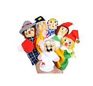 Недорогие -Ролевые игры Пальцевая кукла Марионетки Обучающая игрушка Игрушки Игрушки Милый стиль Милый Плюш Девочки 6 Куски