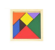 Недорогие -Китайская геометрическая головоломка Пазлы Деревянные пазлы Обучающая игрушка Квадратный Своими руками Классика Подарок