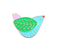 Women's Brooches Animal Design Fashion Cute Style Enamel Alloy Animal Shape Bird Jewelry For Wedding Party Special Occasion Daily Casual