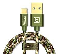 USB 2.0 Micro USB 2.0 Плетение Кабели Назначение Samsung Huawei Sony Nokia HTC Motorola LG Lenovo Xiaomi 300 cm Нейлон Алюминий TPE
