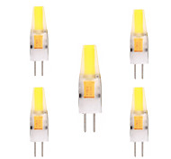 economico -YWXLIGHT® 5 pezzi 2W 150-200 lm G4 Luci LED Bi-pin T 1 leds COB Decorativo Bianco caldo Luce fredda AC 12V DC 12-24V
