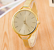 Women's Golden Fine Mesh Belt  Fashion Quartz Watch Golden silver