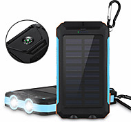 6000mAh Solar Power Bank Portable Solar Phone Charger Outdoors Emergency External Battery for Cellphone Multi-Output Flashlight