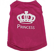 Cat Dog Shirt / T-Shirt Dog Clothes Casual/Daily Fashion Tiaras & Crowns Rose Costume For Pets