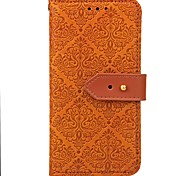 cheap -Case For Huawei P9 Huawei P9 Lite Huawei Honor 5C Huawei Huawei P8 Lite Huawei Honor 5X Card Holder Wallet with Stand Magnetic Embossed