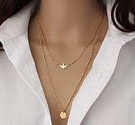 Peace Bird Circle Necklace Non Stone Layered Necklaces Jewelry Daily Casual Animal Shape Animal Design Multi-ways Wear Durable Double-layer