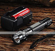 UltraFire LED Flashlights / Torch LED 1200 lm 5 Mode Cree XM-L U2 with Battery and Charger Adjustable Focus Camping/Hiking/Caving