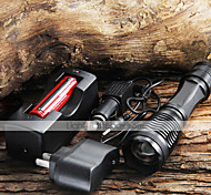 UltraFire LED Flashlights / Torch LED 1800/2000/2200 lm 5 Mode Cree XM-L T6 with Battery and Chargers Zoomable Camping/Hiking/Caving