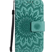 For Samsung Galaxy A5 (2017) A3 (2017) with Stand Card Holder Wallet Flip Embossed Case Full Body Case Sunflower Hard PU Leather for A510 A310 A5 A3