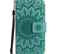 Hülle Für Samsung Galaxy A5(2017) A3(2017) Geldbeutel Kreditkartenfächer mit Halterung Flipbare Hülle Geprägt Handyhülle für das ganze