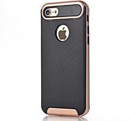 abordables -Para Antigolpes Funda Cubierta Trasera Funda Un Color Dura Fibra de Carbono para AppleiPhone 7 Plus iPhone 7 iPhone 6s Plus iPhone 6 Plus