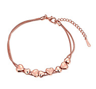 cheap -Women's Girls' Chain Bracelet Crystal Friendship Fashion Vintage Rose Gold Plated Heart Jewelry For Wedding Party Special Occasion