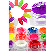 cheap -1 bottle Nail Glitter Neon & Bright Sparkle & Shine Shimmer Sparkling High Quality Party Party / Evening Daily Practise Holiday Date
