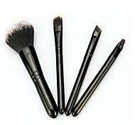 4 Powder Brush Foundation Brush Makeup Brush Set Blush Brush Eyeshadow Brush Lip Brush Synthetic Hair Travel Professional Full Coverage