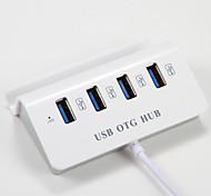 cheap -USB OTG 2 in 1 USB 3.0 Micro usb to Multiple 4 USB 3.0 Dock Converter Adapter