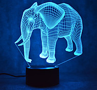 Christmas Elephant Touch Dimming 3D LED Night Light 7Colorful Decoration Atmosphere Lamp Novelty Lighting Christmas Light