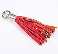 Leather Tassel Micro USB Cable Metal Ring Key Chain Charging Data Cord Charger Cables for Samsung Xiaomi Htc Huawei