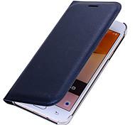 Недорогие -Кейс для Назначение SSamsung Galaxy J7 Prime J5 Prime Бумажник для карт Флип Чехол Сплошной цвет Твердый Искусственная кожа для J7 (2016)