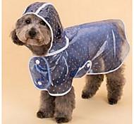 abordables -Perro Impermeable Ropa para Perro Bonito Lunares Azul Rosa Disfraz Para mascotas