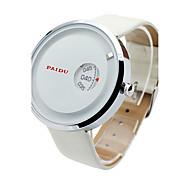 Недорогие -Муж. Кварцевый Наручные часы Спортивные часы Натуральная кожа Группа Кулоны На каждый день Мода Черный Белый