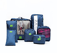7 pcs Travel Luggage Organizer / Packing Organizer Waterproof Portable Travel Storage Clothes Shoes Nylon Travel